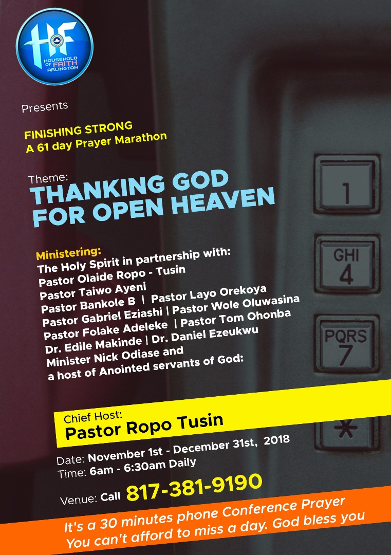 Thanking God For Open Heaven