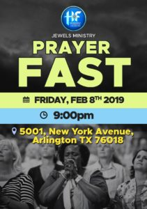 Jewels Pray Fast @ Household of Faith Arlington
