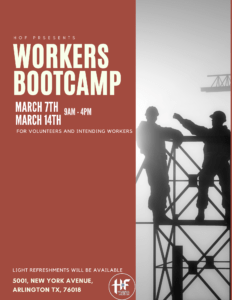 Workers Boot Camp @ Household of Faith