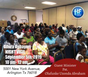 Adura Agbayori @ Household of Faith