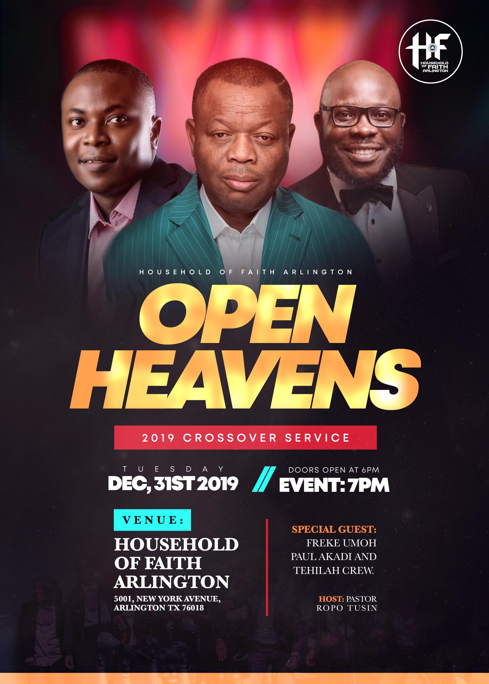 Open Heavens Finale Crossover