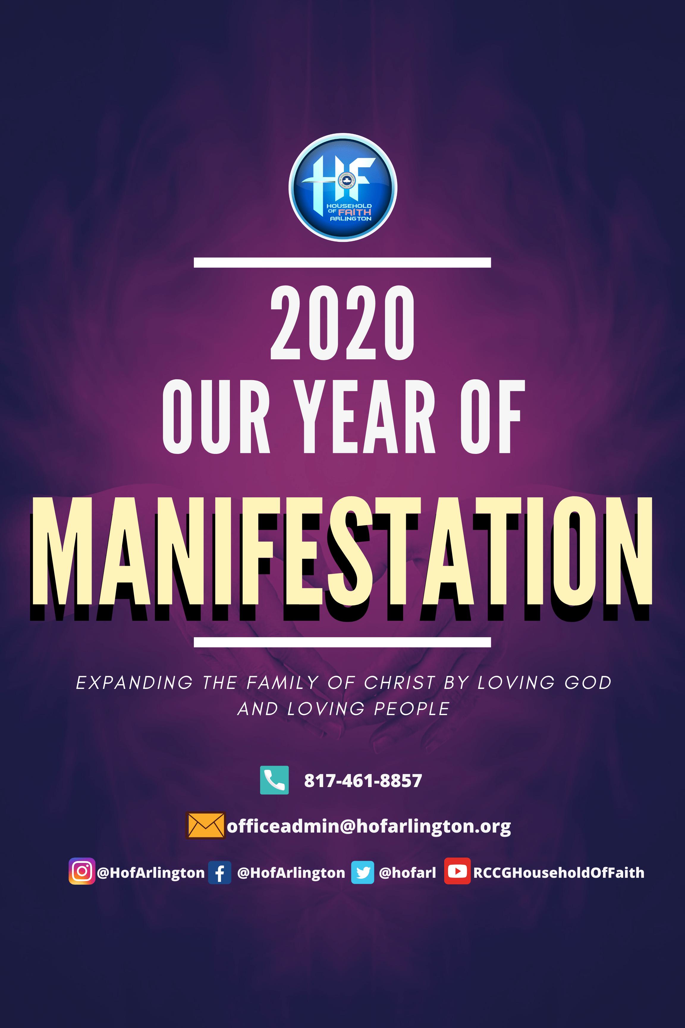 YEAR OF MANIFESTATION
