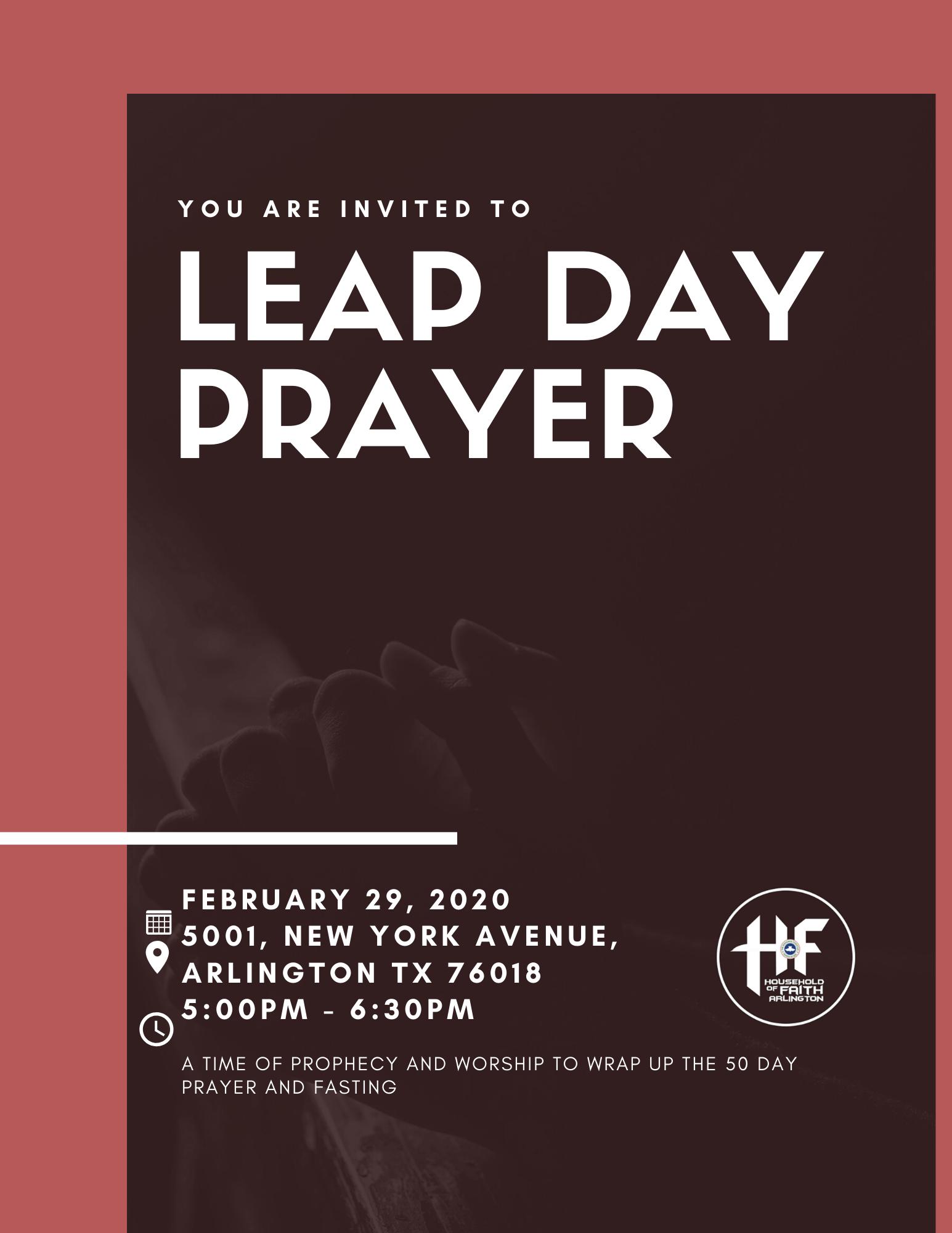 Leap day prayer