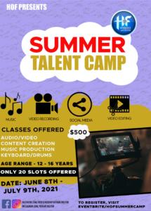 Summer Talent Camp @ Household of Faith